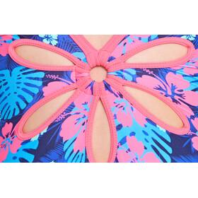 Zoggs Kona Yaroomba Floral - Bañador Niños - rosa/azul